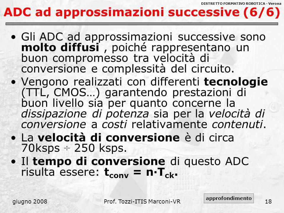 ADC ad approssimazioni successive (6/6)