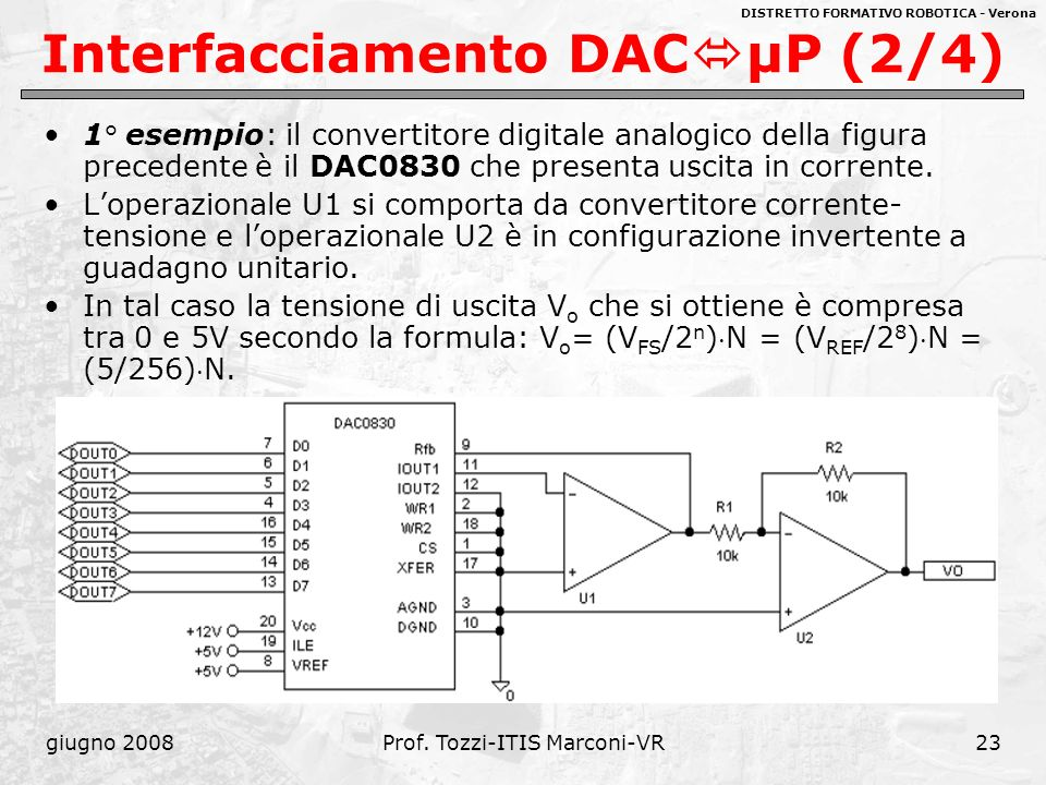 Interfacciamento DACμP (2/4)