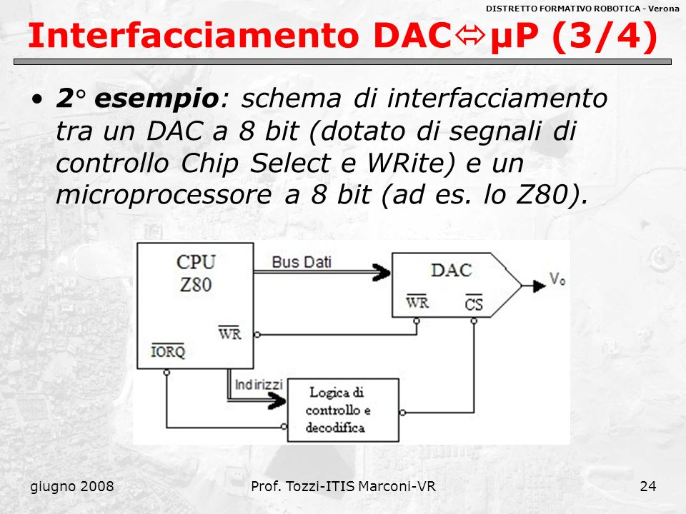 Interfacciamento DACμP (3/4)