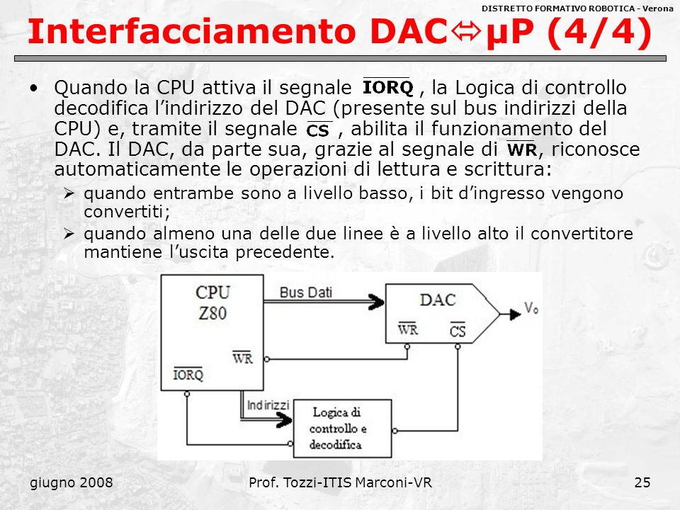 Interfacciamento DACμP (4/4)