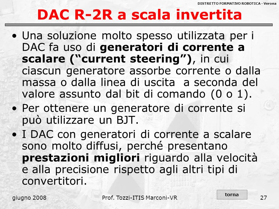 DAC R-2R a scala invertita