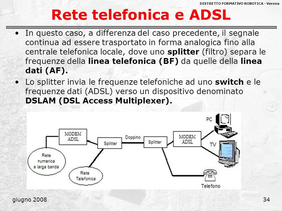 Rete telefonica e ADSL