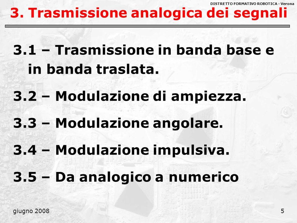 3. Trasmissione analogica dei segnali
