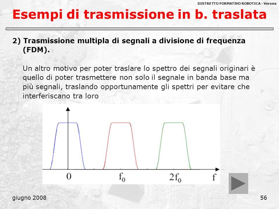 Esempi di trasmissione in b. traslata