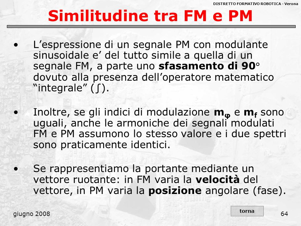 Similitudine tra FM e PM