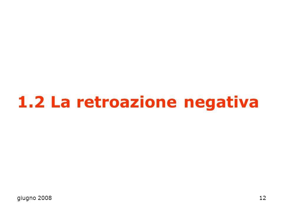 1.2 La retroazione negativa