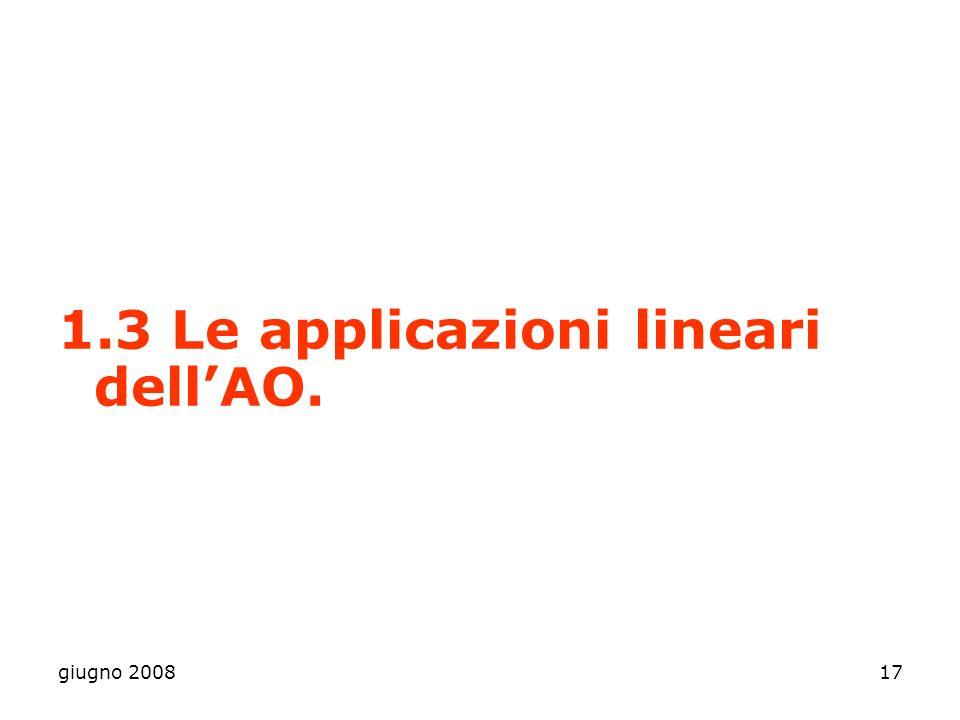 1.3 Le applicazioni lineari dell'AO.
