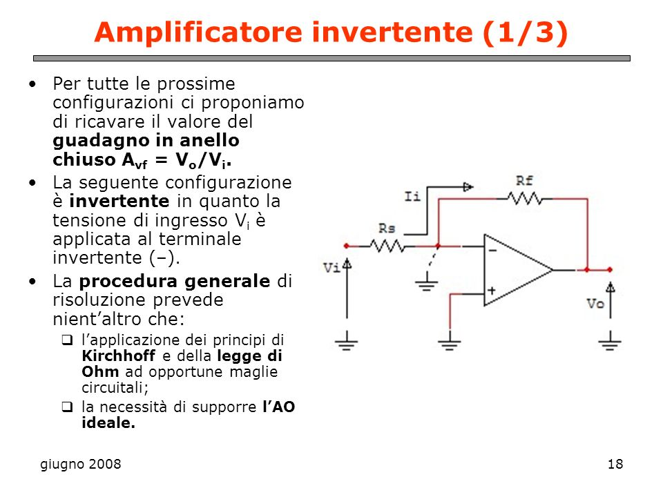 Amplificatore invertente (1/3)