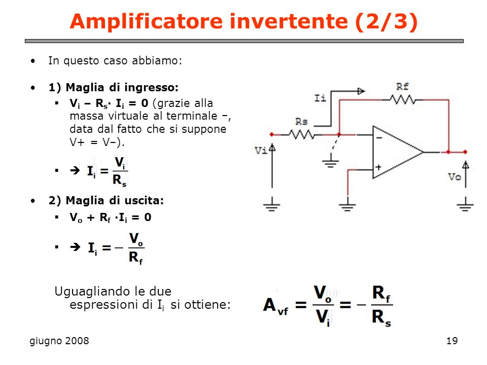 Amplificatore invertente (2/3)