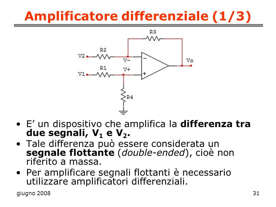 Amplificatore differenziale (1/3)