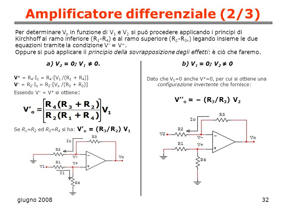 Amplificatore differenziale (2/3)