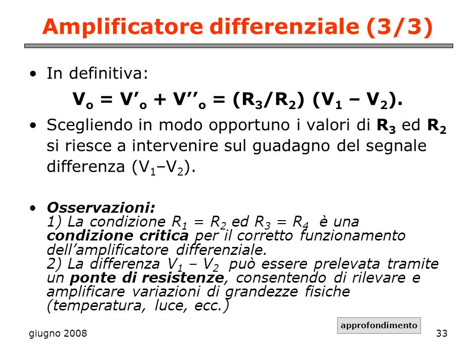 Amplificatore differenziale (3/3)