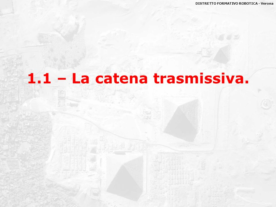 1.1 – La catena trasmissiva.