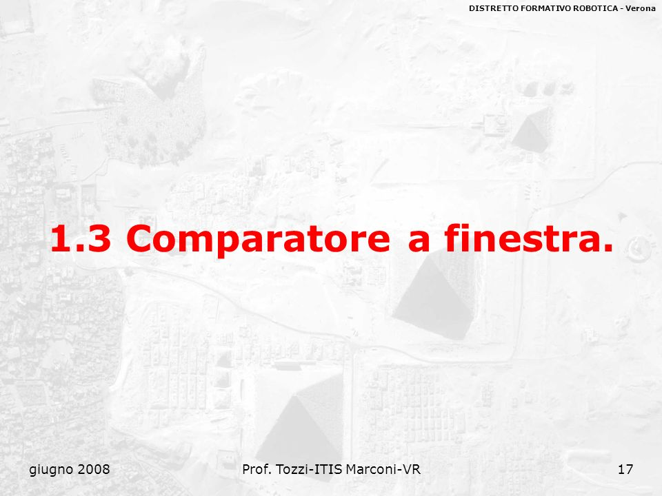 1.3 Comparatore a finestra.