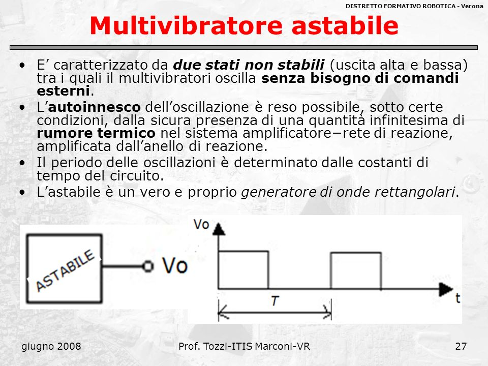 Multivibratore astabile