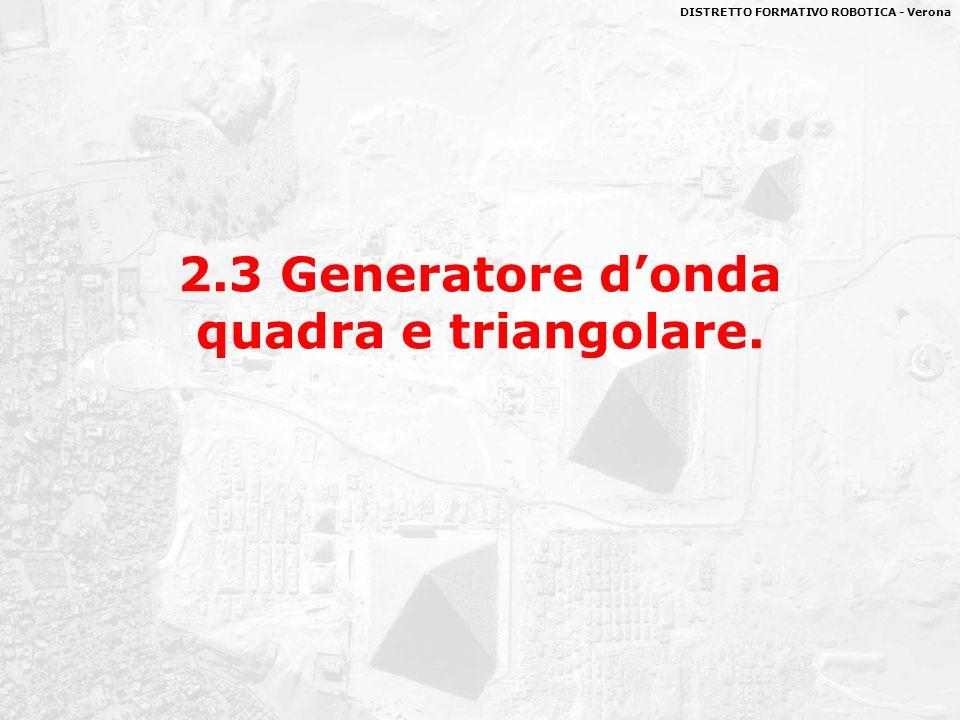 2.3 Generatore d'onda quadra e triangolare.