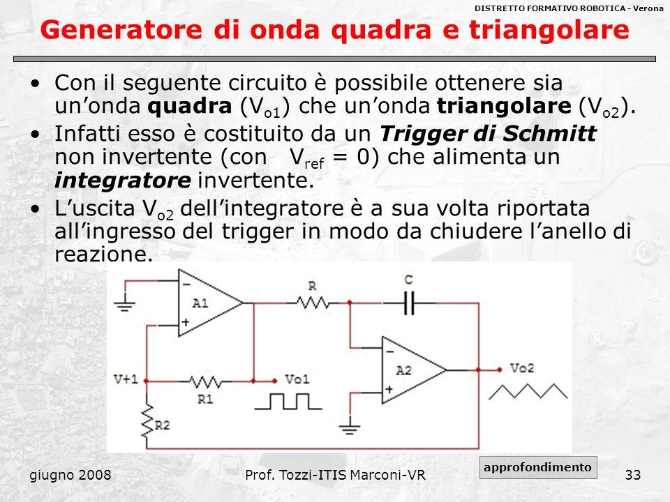 Generatore di onda quadra e triangolare