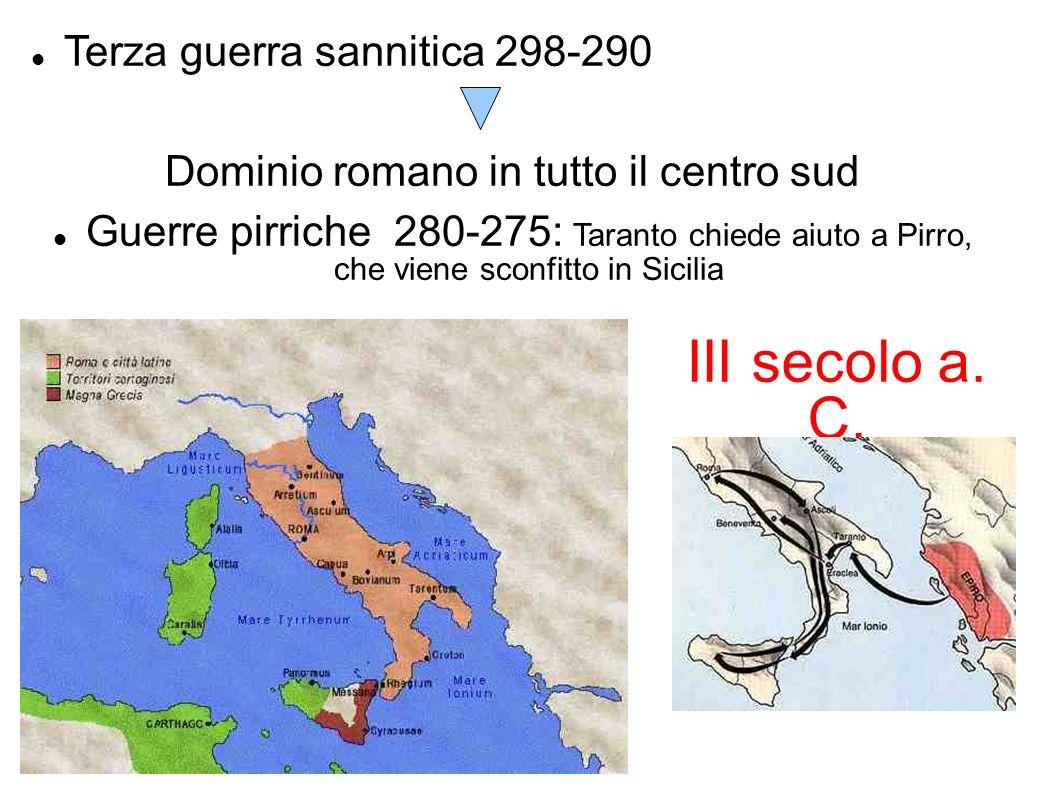 Dominio romano in tutto il centro sud
