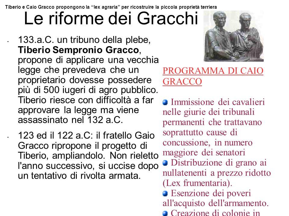 PROGRAMMA DI CAIO GRACCO