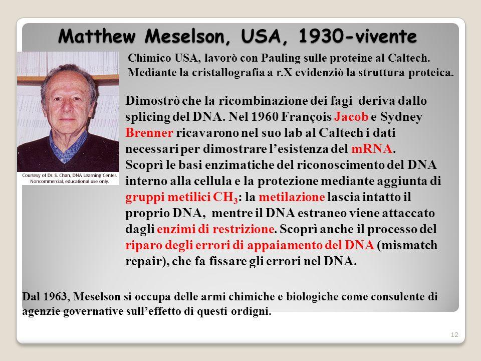 Matthew Meselson, USA, 1930-vivente