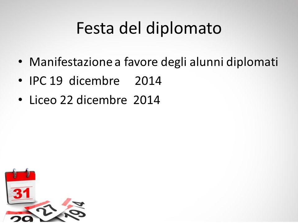 Festa del diplomato Manifestazione a favore degli alunni diplomati