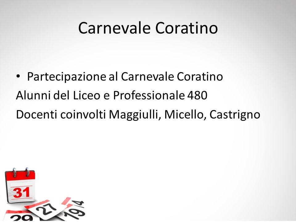 Carnevale Coratino Partecipazione al Carnevale Coratino