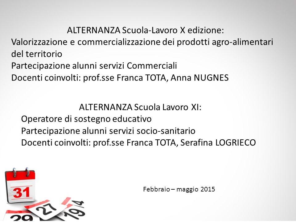 ALTERNANZA Scuola-Lavoro X edizione: