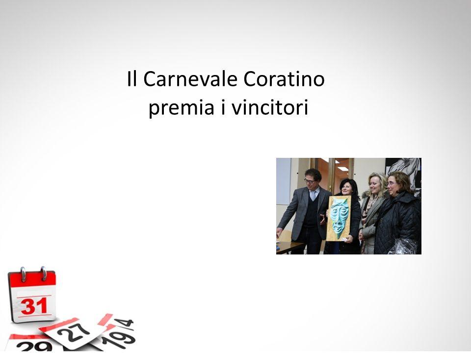 Il Carnevale Coratino premia i vincitori