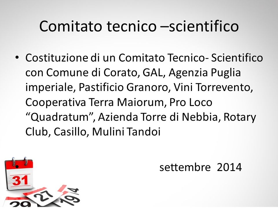 Comitato tecnico –scientifico