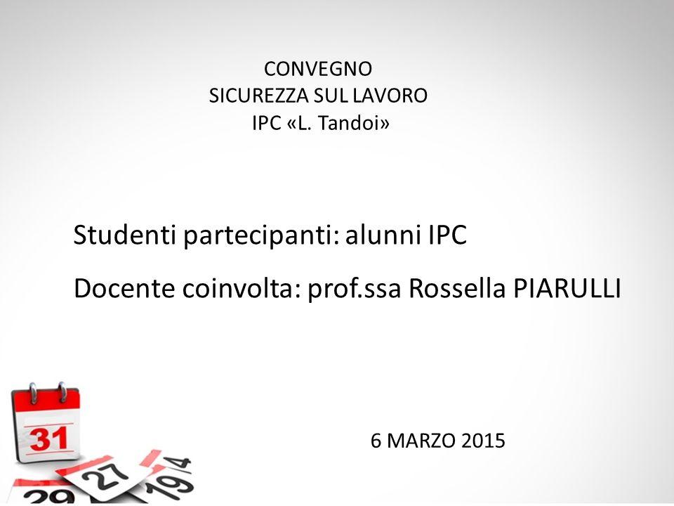 Studenti partecipanti: alunni IPC