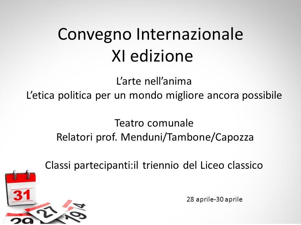 Convegno Internazionale XI edizione