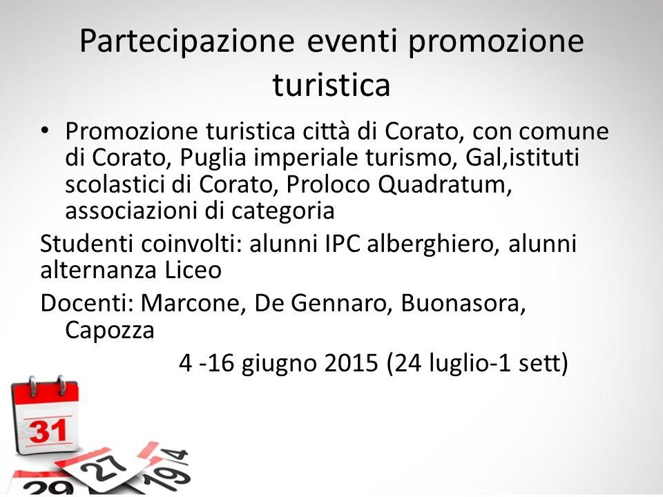 Partecipazione eventi promozione turistica