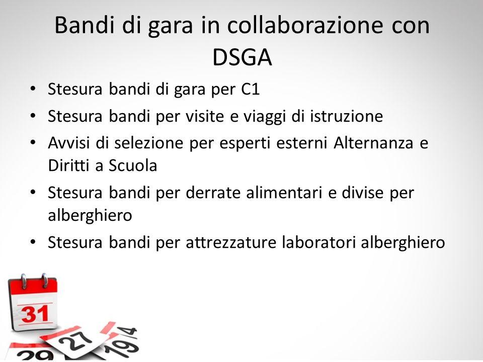 Bandi di gara in collaborazione con DSGA