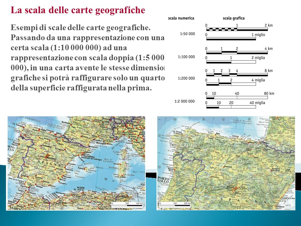 La scala delle carte geografiche