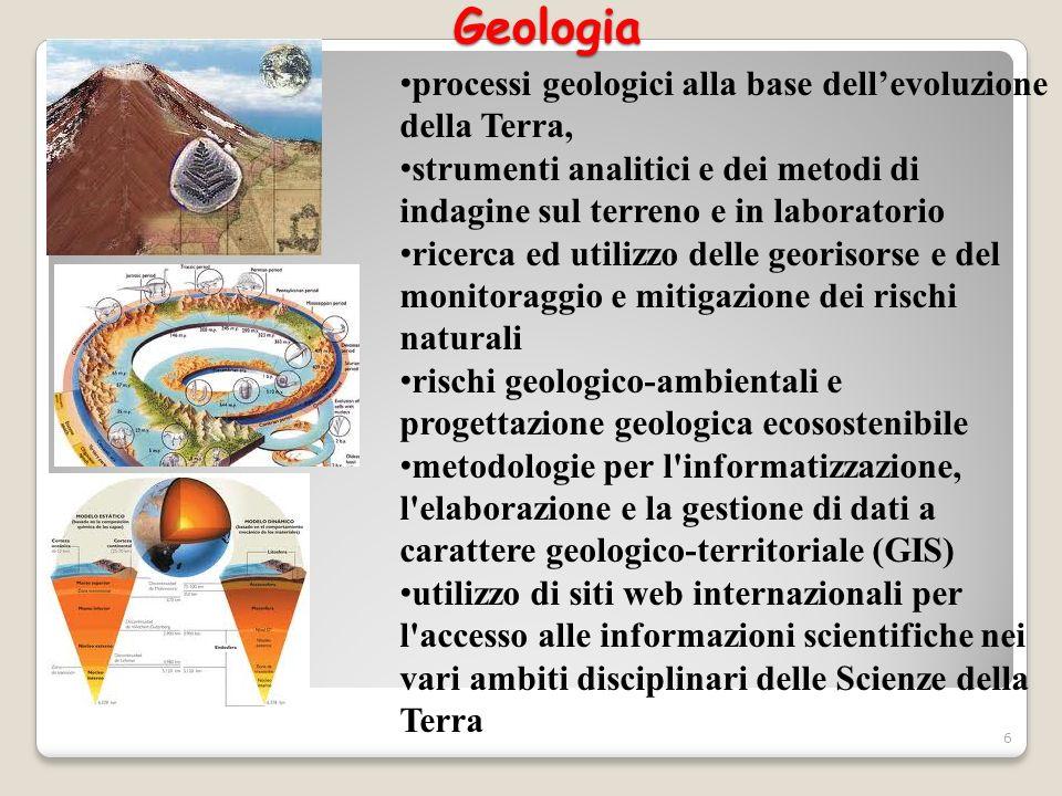 Geologia processi geologici alla base dell'evoluzione della Terra,