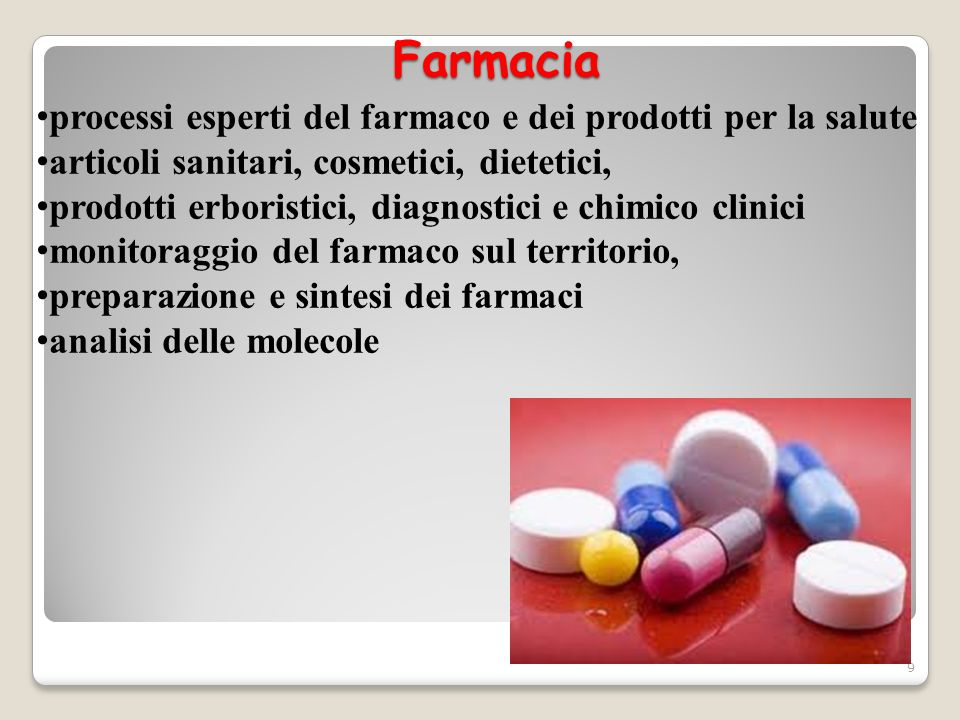 Farmacia processi esperti del farmaco e dei prodotti per la salute