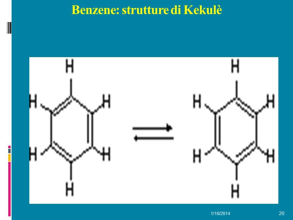 Benzene: strutture di Kekulè