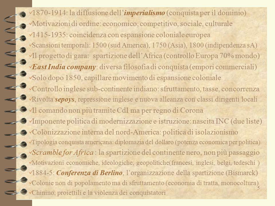 1870-1914: la diffusione dell'imperialismo (conquista per il dominio)