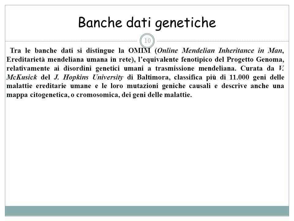 Banche dati genetiche