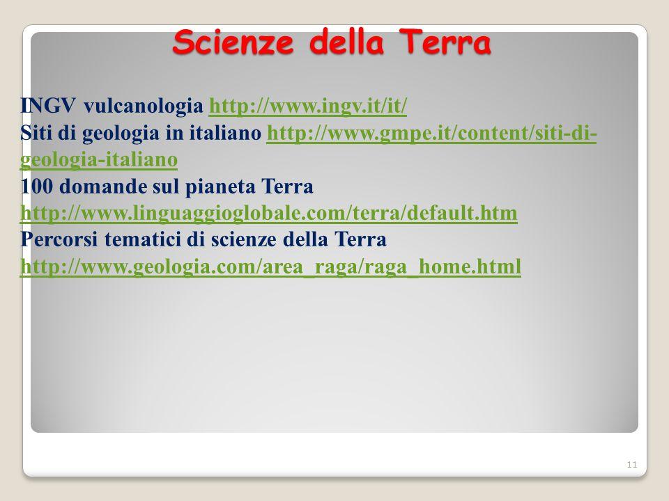 Scienze della Terra INGV vulcanologia http://www.ingv.it/it/