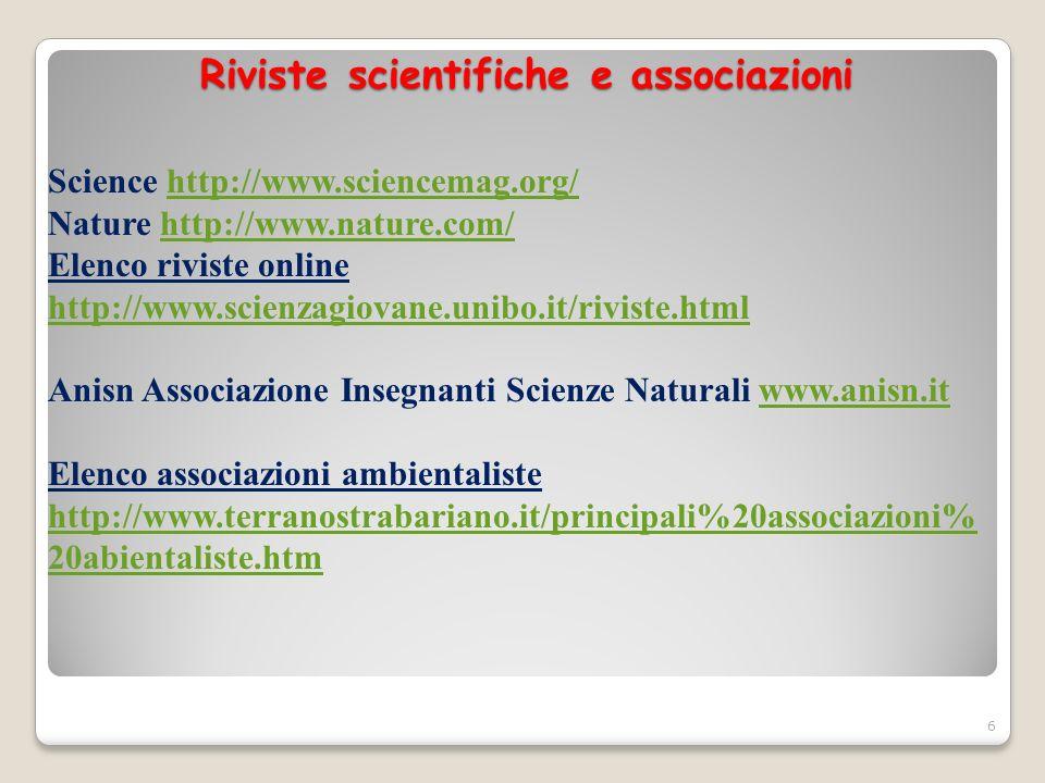 Riviste scientifiche e associazioni