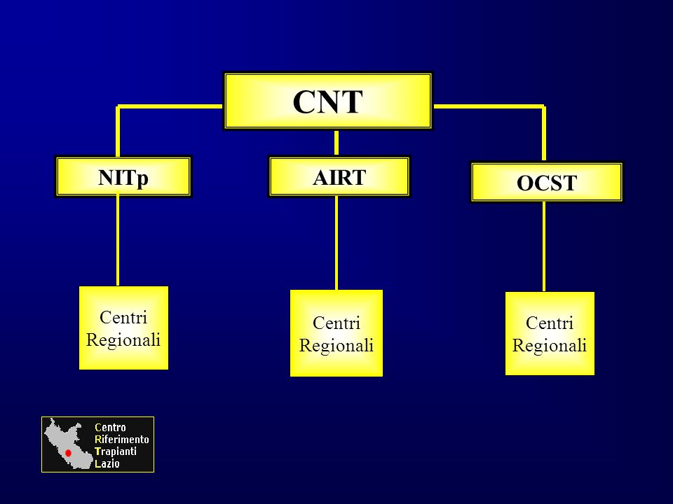 CNT NITp AIRT OCST Centri Regionali Centri Regionali Centri Regionali