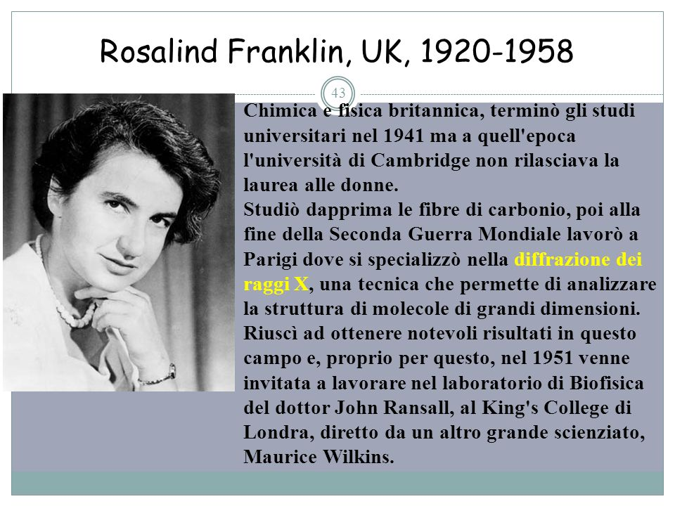 Rosalind Franklin, UK,
