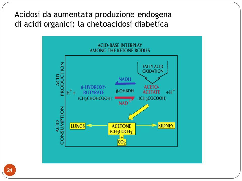 Acidosi da aumentata produzione endogena
