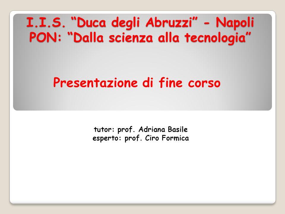 tutor: prof. Adriana Basile esperto: prof. Ciro Formica