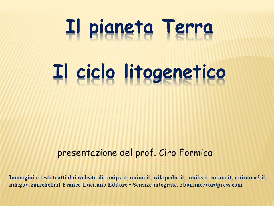 Il pianeta Terra Il ciclo litogenetico
