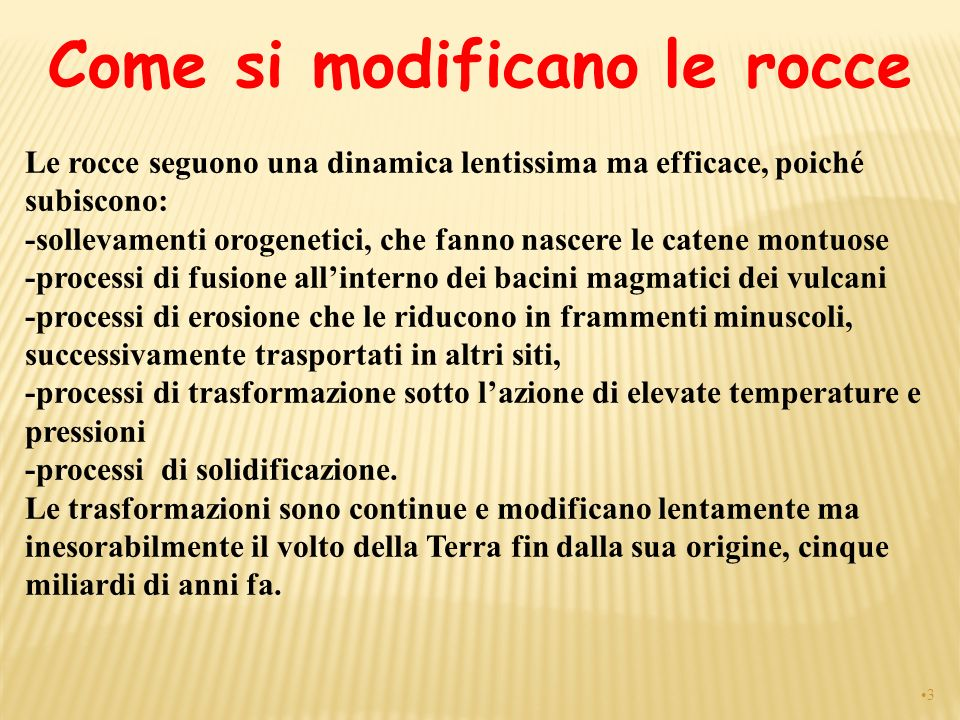 Come si modificano le rocce