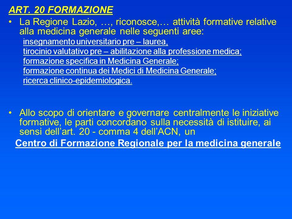 Centro di Formazione Regionale per la medicina generale