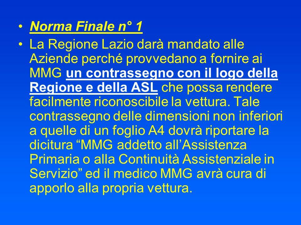 Norma Finale n° 1