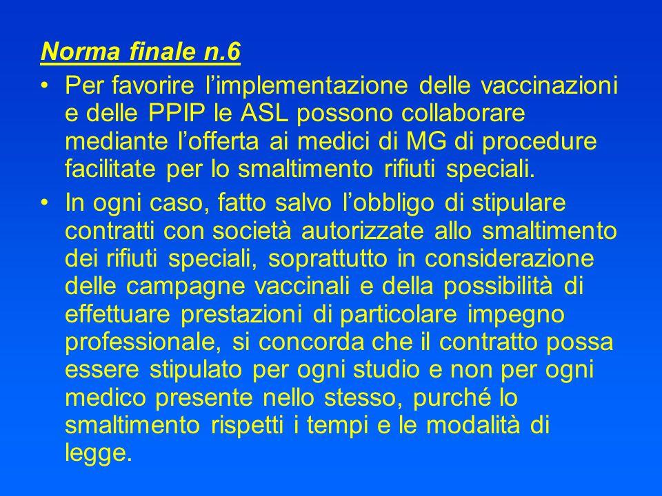 Norma finale n.6